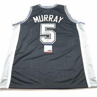 DeJounte Murray Signed Jersey PSA/DNA San Antonio Spurs Autographed