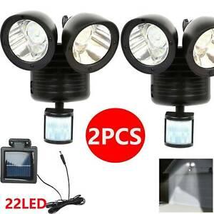 2x 22 LED Solar Light PIR Motion Sensor Garden Outdoor Security Floodlight Lamp