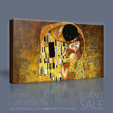 GUSTAV KLIMT THE KISS POPULAR CONTEMPORARY CANVAS ART PRINT PICTURE Art Williams