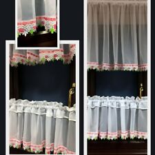 Beautiful Voile Cafe Net Curtains with Lace (Guipure)