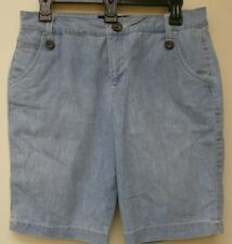Women's - Gloria Vanderbilt light blue denim bermuda shorts.  size 8P
