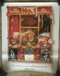 1995 49ers 49th Anniversary POSTER Joe Montana Dwight Clark (NEVER DISPLAYED)