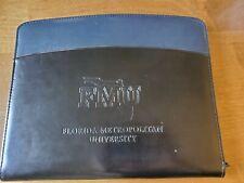 Florida Metropolitan University Fmu Faux Leather Portfolio Padfolio Zippered