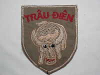 "ARVN 7th MARINE BATTALION "" TRAU DIEN "" CRAZY BULL Vietnam Shoulder PATCH"