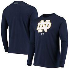 Notre Dame Fighting Irish Under Armour School Logo Long Sleeve T-Shirt - Navy
