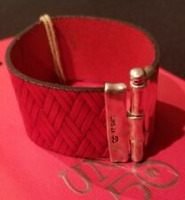 Uno De 50 Red Leather with Silver Bracelet
