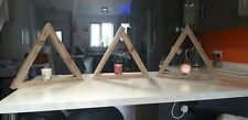 """Chunky Floating Shelves Wooden Rustic Triangle Shelves """"pallet"""" Timber Reclaimed"""