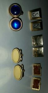 Vintage Lot of 5 Pairs of Cufflinks Swank & others Gold Tone