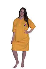 Ladies Sleep Shirt Gold -100% Cotton, Cool Clothing, OSFA, Sleepshirt and Solid