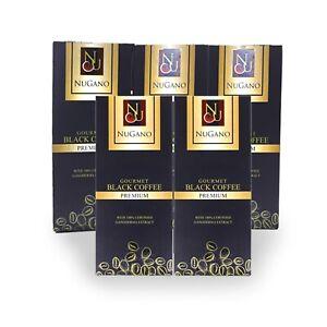 5 Box Ganoderma Black Coffee Nugano Schwarzer Kaffee Organo Kostenloser Versand