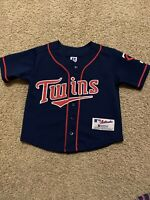 MINNESOTA TWINS MLB Baseball Jersey by Russell Youth Boys Size 5 Embroidered EUC