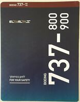 ELAL Airline Boeing 737-800/900 Safety Card New Revision 2019