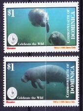 Dominica 1995 Mnh, Manatee, Sea cows, Marine Mammals