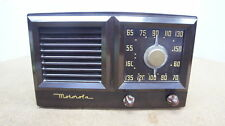 🍀 ‡ VINTAGE! Motorola 58GI Art Deco 1949 Bakelite Vacuum Tube Radio Bullet Knob
