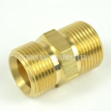 Pressure Washer Jet Wash 1/4 male to 1/4 male Brass Coupling Joiner