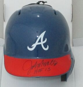 Braves Hall of Famer JOHN SMOLTZ Signed Atlanta Rawlings Mini Helmet AUTO - JSA