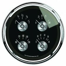 "5"" QUAD GAUGE, 100 PSI/100-250 °F/8-18V/240-33 Ω, PRESTIGE BLACK DIAMOND"