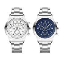 Fashion Luxury Mens Stainless Steel Band Quartz Analog Hour Wrist Watch Watches
