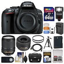 Nikon D5300 Digital SLR Camera Body (Black) with 35mm f/1.8 & 18-140mm VR Zoom L