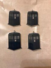 TARDIS DR WHO FLAT BACK PLANAR BLUE X 4 Craft UK SELLER 45 x 30 MM