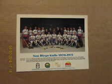 WHL San Diego Gulls Vintage Defunct Circa 1970-1971 Team Logo Hockey Photo