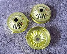 """Lot of 3 Holder Cup 2 1/4"""" Fitter Glass/Shades Lamp Part Steel Brass Plate (HC2)"""