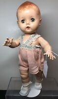 "12"" Vintage 1960's Unmarked Hard Plastic Walker Adorable Baby Doll Sleep Eyes #s"