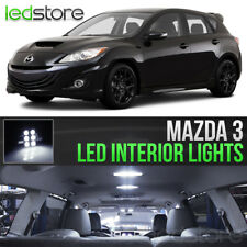 2004-2013 Mazda 3 White LED Lights Interior Kit Package Bulbs MazdaSpeed