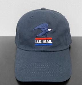 Postal Office Logo Adjustable Dad Hat with Retro logo USPS Navy
