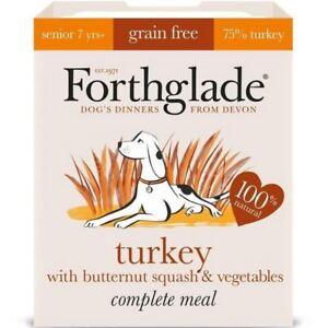 6x Forthglade Complete Senior Turkey with Butternut Squash & Veg Grain Free 395g