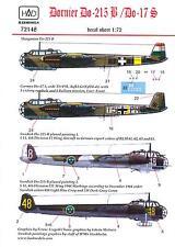 Hungarian Aero Decals 1/72 DORNIER Do-215B & DORNIER Do-17S Bombers Part 2