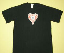 Alkaline Trio Concert Tour T-Shirt Skull Heart Black size M