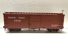 accucraft 1:20.3 Narrow Gauge Box Car Pacific Coast