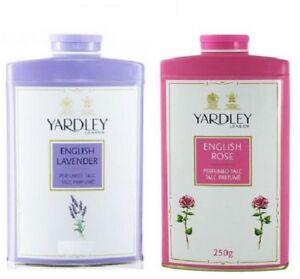 Yardley London English Lavender & English Rose Perfumed Talc for Women 250g x 2