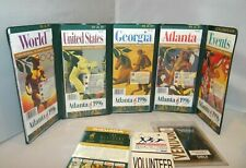 1996 ATLANTA USA OLYMPIC OFFICIAL SOUVINIER MAP COLLECTION & Volunteer Ticket