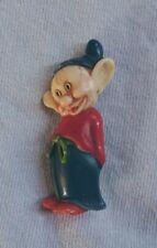 Vintage antique 1930's Disney Snow White Dopey celluloid pin back brooch