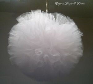 TULLE POMANDER , KISSING BALL -  Wedding, Party decoration,Quincenera, Sweet 16,