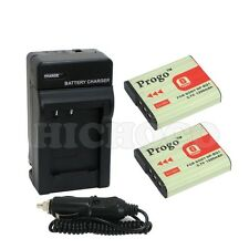 2x NP-BG1 FG1 Battery + Charger For SONY DSC-W90 DSC-WX