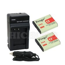 2x NP-BG1 FG1 Battery + Charger For SONY DSC-W70 W80
