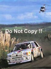 El Señor Vatanen nos Peugeot 205 Turbo 16 E2 Nueva Zelanda Rally 1985 fotografía