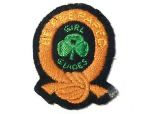 Vintage Embroidered Cloth Badge Patch Girl Guides Be Prepared #G7