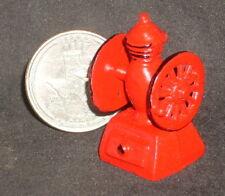 Dollhouse Miniature Red Metal Coffee Grinder 1:12 Vintage Antique Style Kitchen