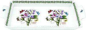 Portmeirion Botanic Garden Porcelain Sandwich Tray with Handles