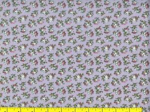 Small White & Red Flowers on Light Purple Quilting & Sewing Fabric by Yard #894