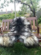 Real icelandic sheepskin rug colour black/grey not dyed125-70cm