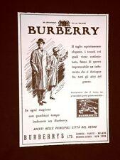 Pubblicità dei 1932 Impermeabili Burberry Burberrys LTD. Londra Inghilterra
