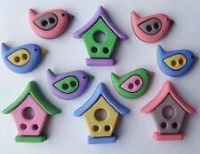 Vestido de verano casa De Pájaros barrio Birdhouse Jardín para arriba de los botones de Artesanía Coser