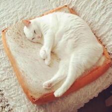 Creative Toast Bread Soft Cat Pet Pillow Sofa Cushion Throw Plush Gift Decor }