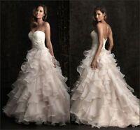 New white/ivory wedding dress custom size 2-4-6-8-10-12-14-16-18-20-22++