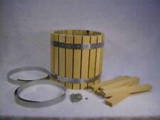 WINE PRESS FRUIT CIDER PRESS  BARREL OAK  HOPPER KIT ASSEMBLY REQD. + PLANS CD
